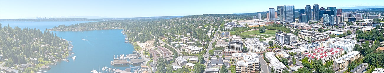 Bellevue Washington Skyline Aerial Panorama